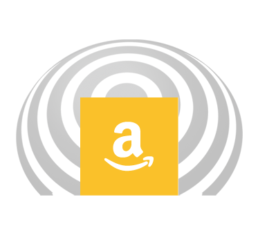 Amazon Smile icon is set against a FlashSonar wave. Click here to go to our page at Amazon Smile.