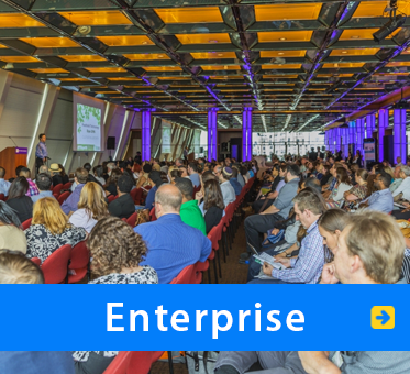 Enterprise. Photo of WAFTB President Daniel Kish speaking to a packed house at Foothold Technology's Cultivating Growth Expo 2016 In New York City.