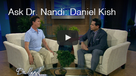 Video thumbnail shows Daniel Kish appearing on the TV program Ask Dr. Nandy. Click on the thumbnail to go to the video.