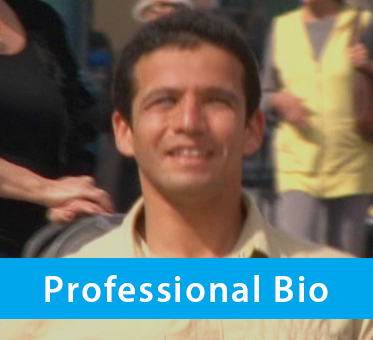 Box banner shows a screengrab of World Access For The Blind Perceptual Navigation Instructor Juan Ruiz in a screengrab from a History Channel profile of him where he's walking along the Third Street Promenade in Santa Monica, California.