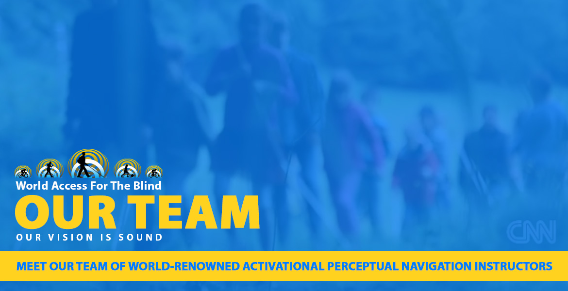 Meet our team of world renowned Activational Perceptual Navigation Instructors. Image shows a blurred video frame showing our instructors and students from a feature on CNN.