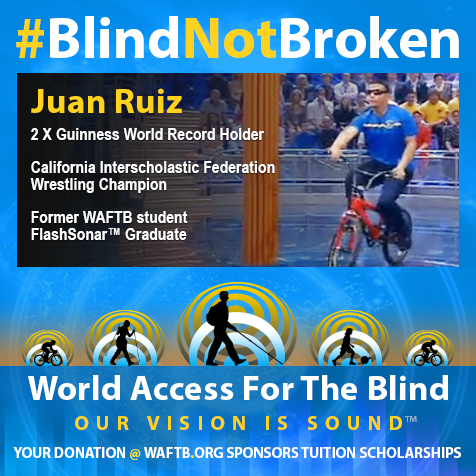 Juan Ruiz. Two time Guinness World Record Holder. California Interscholastic Federation Wrestling Champion. Former WAFTB student, FlashSonar Graduate.