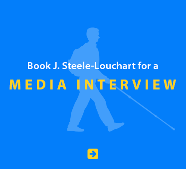 Book J. Steele-Louchart for a Media Interview.